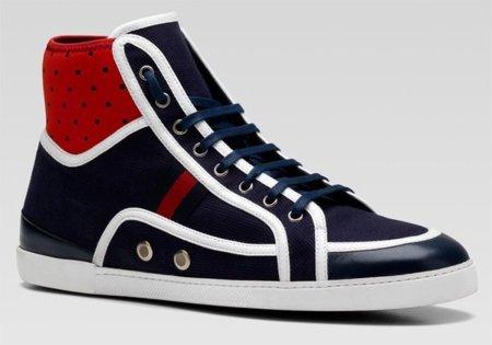 Zapatillas hightop de Gucci, renovadas