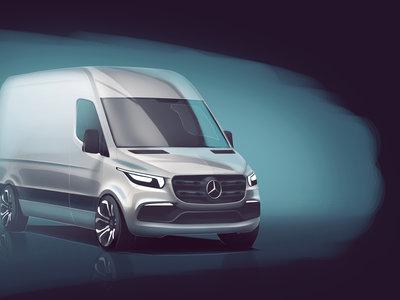 La Mercedes Sprinter 2018 se verá similar a este dibujo