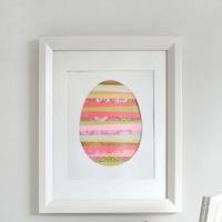 Hazlo tú mismo: un huevo de Pascua en versión cuadro