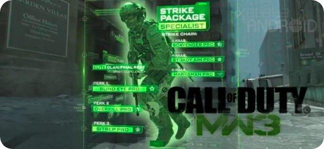 Una aplicación para el juego Modern Warfare 3
