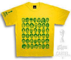 Camiseta con los rostros de los protagonistas del Mundial
