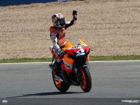 Dani Pedrosa hizo de Stoner en Jerez
