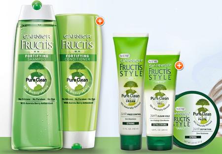 """Garnier lanza Fructis Pure Clean, una línea de productos """"verdes"""""""