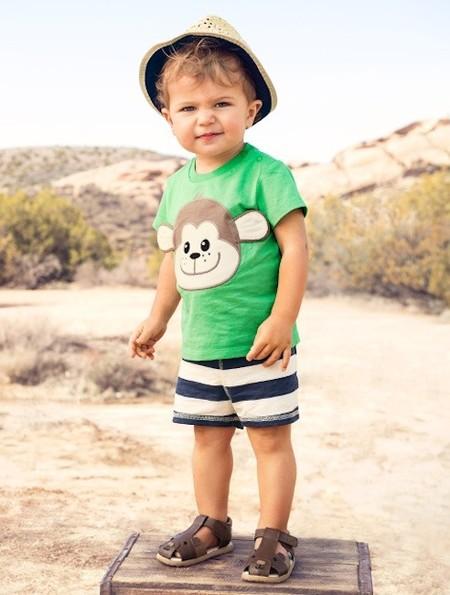 Moda Primavera Verano 2014 para bebés y niños  ropa playera para disfrutar  del mar c3db6af5f80