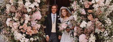 La princesa Beatriz luce en su boda con Edoardo Mapelli Mozzi un vestido que perteneció a su abuela, la reina de Inglaterra