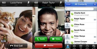 Skype 3.0, ahora con videollamadas entre iPhone