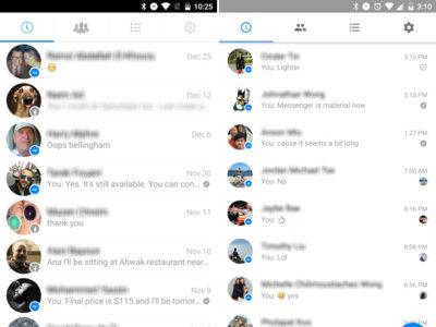 Facebook Messenger se prepara para recibir Material Design y soporte multicuenta
