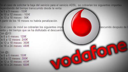 FACUA denuncia a Vodafone por los 750 euros que habría que pagar en caso de no cumplir el contrato de permanencia