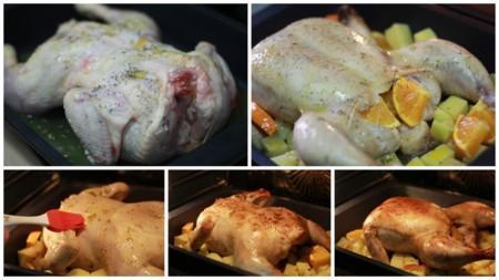 Pollo Al Horno Con Naranja Pasos