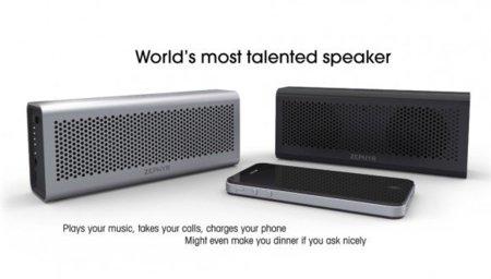 Con los altavoces inalámbricos Zephyr podrás escuchar música y cargar tu móvil