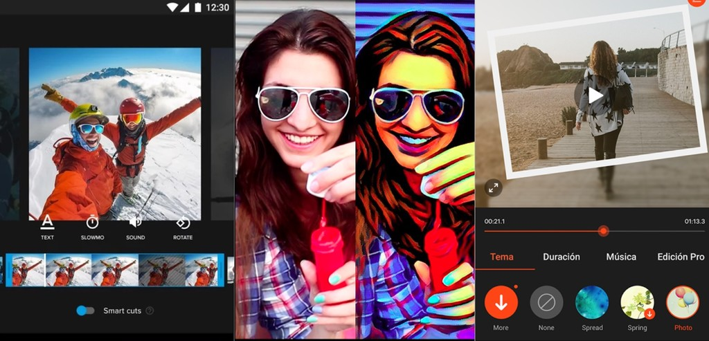 Aplicaciones de v deo para android c mara lenta y for Editor de fotos efectos