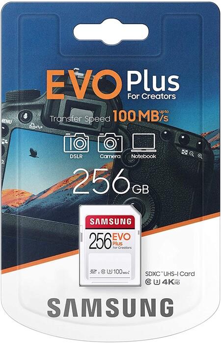 Promoción en tarjeta SD de Samsung en México, 256 GB