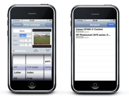 ePrint impresión desde iPhone o iPod Touch