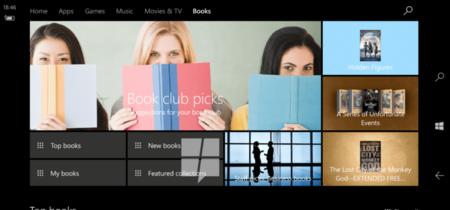 Windows 10 añadirá una sección de e-books a su tienda de aplicaciones en la Creatos Update