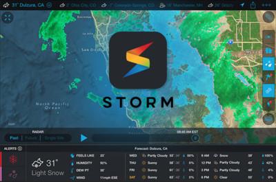 Storm by Weather Underground, al app meteorológica para dejar en ridículo al hombre del tiempo
