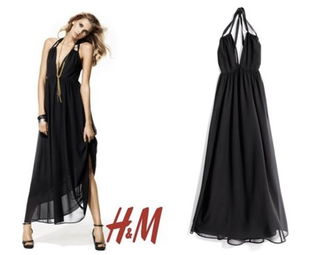 HM vestido negro fiesta