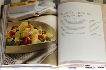 Rigatoni con pimientos libro de cocina