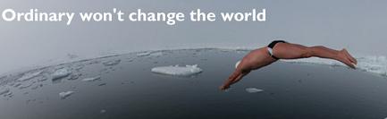 Nadar en el Polo Norte para concienciar sobre el cambio climático