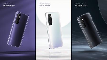 Xiaomi Mi Note 10 Lite: el pequeño de la familia llega con una enorme batería y 64 megapixeles con cuatro cámaras y hasta infrarrojo