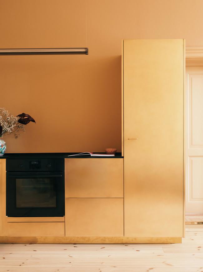 Stine Goya Reform Interiors Offices Kitchens Gold Denmark Copenhagen Dezeen 2364 Col 9 1