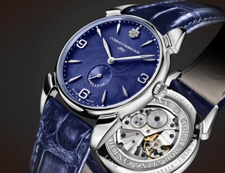 El reloj Blue Edition esfera flameante de Cuervo y Sobrinos