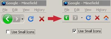 Restaura la visualización de los botones de navegación en Firefox 3 beta