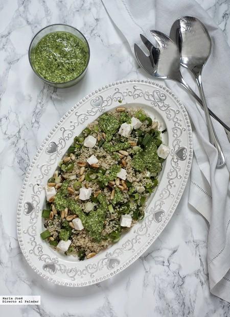 Ensalada de quinoa al pesto