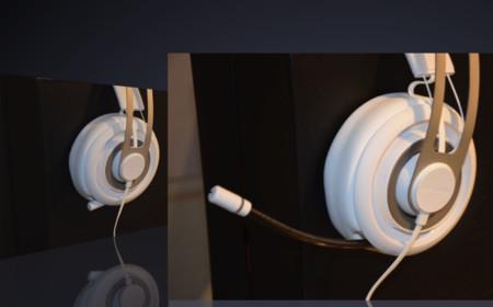 El micrófono retráctil queda prácticamente oculto dentro del auricular izquierdo