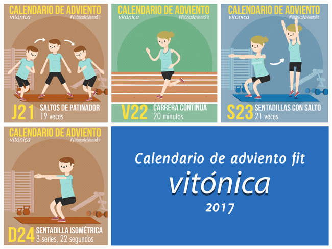Nuestro calendario de adviento fit 2017, al completo