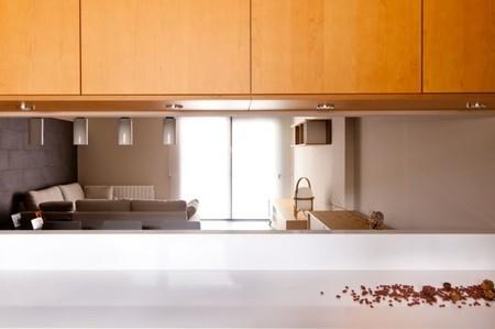 Puertas abiertas: una cocina abierta con vistas al salón