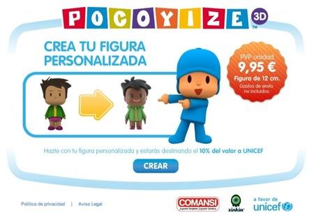 Crea tu propia figura personalizada de Pocoyó en 3D y dona el 10% del valor a Unicef