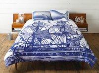 Ropa de cama para un dormitorio de estilo marinero