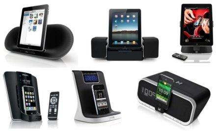 Xataka nos trae 4 bases para el iPad y 6 bases con despertador para el iPhone