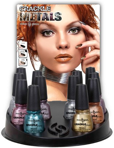 Crackle Metals de China Glaze, esmaltes rotos metalizados para el verano