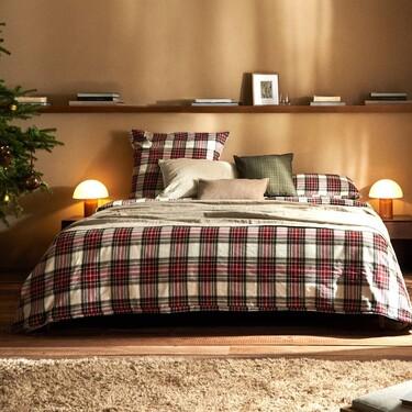 Los cuadros o el tartán y los tonos oscuros son los protagonistas de la ropa de cama de Zara Home para este invierno