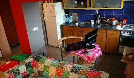 Un apartamento rojo en Bucarest