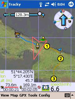 Tracky, navegador GPS fuera de ruta