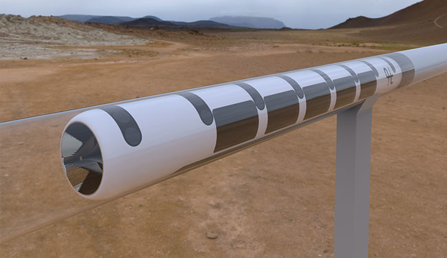 Render del diseño del Hyperloop UPV Team