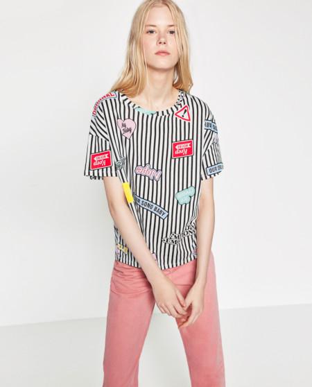 Camiseta con parches