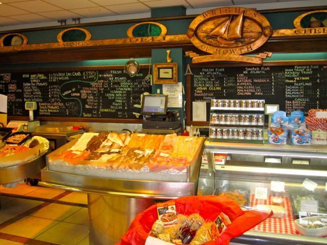 Tienda de seafood en Howth