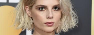 Lucy Boynton triunfa en los Globos de Oro 2019: nunca el maquillaje en negativo fue tan maravilloso
