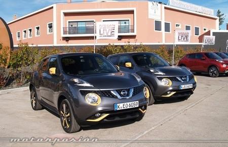 Nissan Juke 2014 gris y amarillo