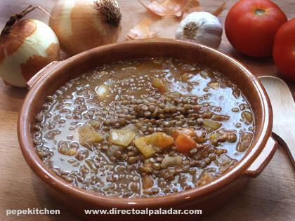Lentejas a la burgalesa, receta tradicional