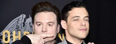 Rami Malek vuelve a triunfar en blanco y negro para su look en promoción de 'Bohemian Rhapsody'