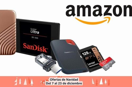 Ofertas de Navidad en almacenamiento SanDisk, WD y Lexar en Amazon: regalar GBs o TBs estas fiestas sale mucho más barato con estos precios