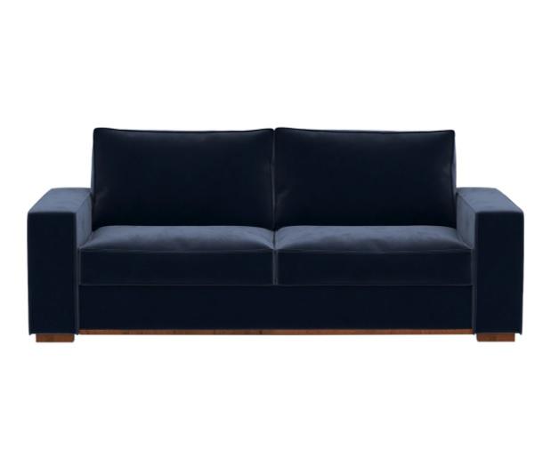 Sofá de terciopelo azul
