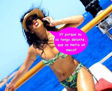 Rihanna le da un Insta-guantazo a Chris Brown y a Karrueche Tran