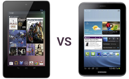 Comparamos al Nexus 7 con su rival el Samsung Galaxy Tab 2 7.0