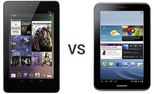 Nexus 7 vs Samsung Galaxy Tab 2 7.0