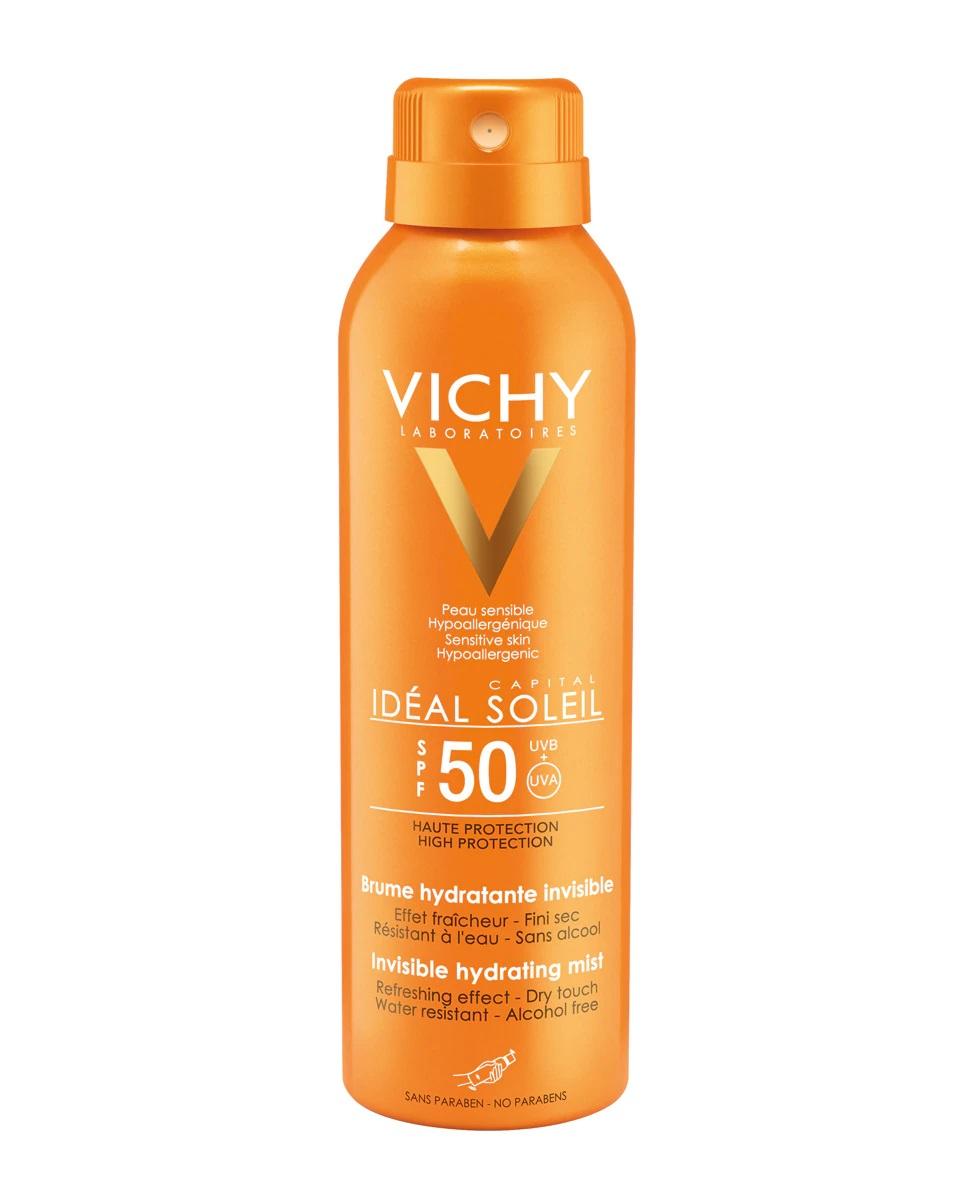 Bruma invisible hidratante y protectora SPF50 Idéal Soleil de Vichy